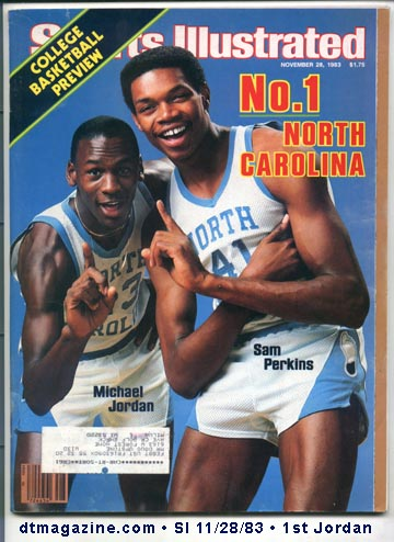 Sports Illustrated magazine Michael Jordan 1st cover 11/28/83